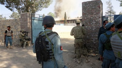 Afghan government compound under siege