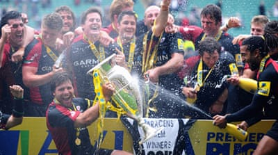 Saracens win their first Premiership title