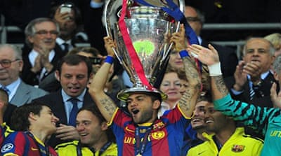 Barca swamp United to win Champions League