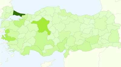 Turkish MPs per province