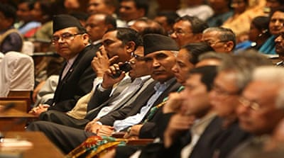 Nepal politicians extend parliament's term