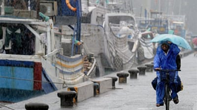 Typhoon Songda hits southern Japan
