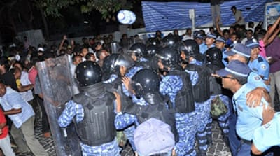 Fresh protest rocks troubled Maldives