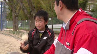 Japanese families face Children's Day