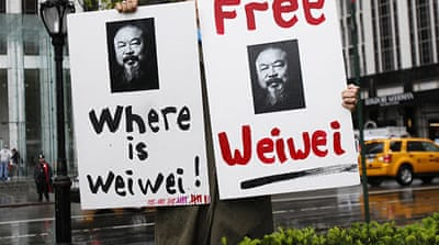 Detained Chinese artist's work exhibits in US