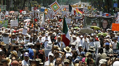 Thousands march against Mexico drug violence