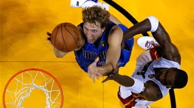 Miami Heat leave Nowitzki cold