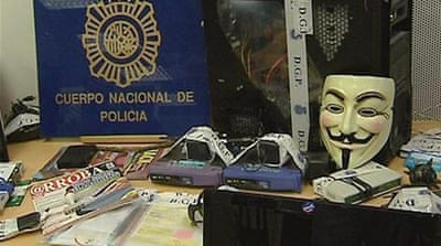 Did the Spanish police dismantle Anonymous?