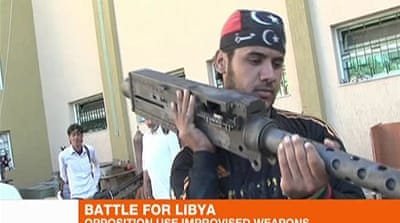 Libya rebels use discards to make own weapons
