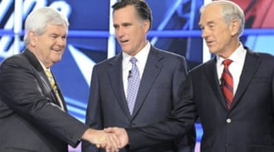 Republican 2012 hopefuls debate US issues
