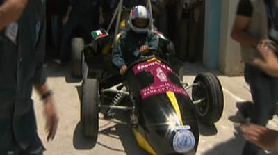 Made in Gaza: Formula 1-style car