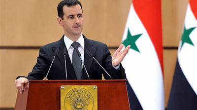 Assad's upside down Syria