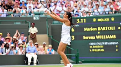 Bartoli knocks out defending champion Serena