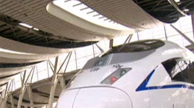 China high speed train in final testing