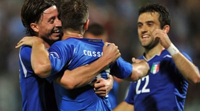 Italy on track for Euro 2012