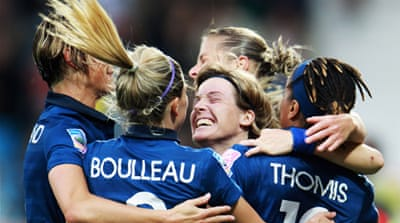 France and Germany reach quarter-finals