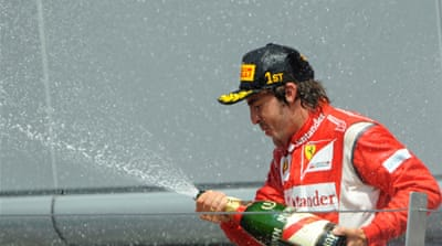 Alonso relishes historic Ferrari win