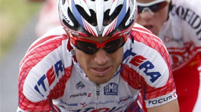 Russian rider denies doping