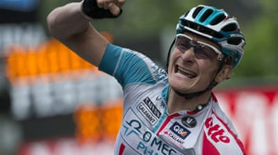German edges rival to win stage 10 of tour