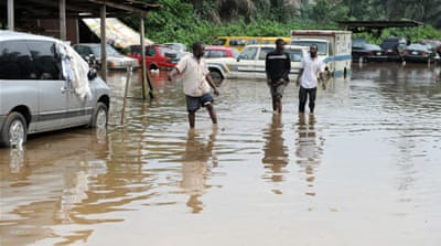 Flash flooding hits Lagos