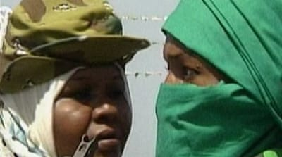 Gaddafi's female fighters