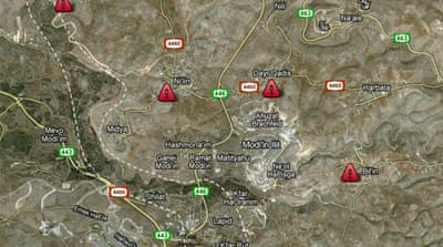 Map: Weekly West Bank protests