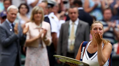 Kvitova defeats favourite Sharapova
