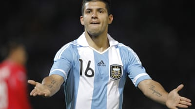 Argentina's Aguero joins Man City