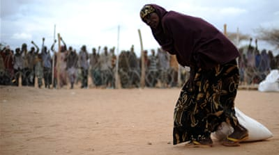 Somali refugees flooding Kenyan camp