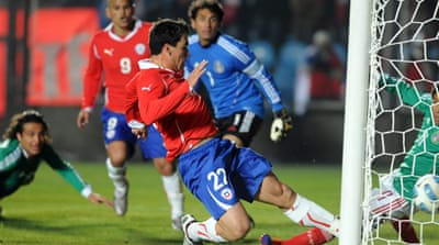 Chile celebrate victory over Mexico