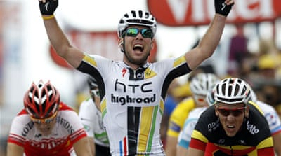 Cavendish bounces back at Tour de France