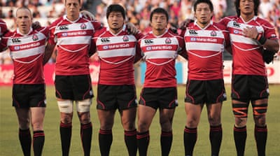Japan's Brave Blossoms warm-up for World Cup