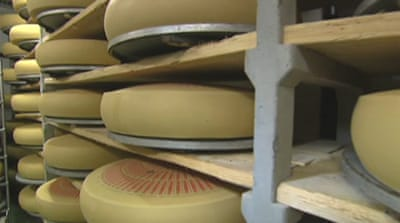 Euro debt crisis hits Swiss cheese