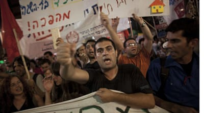 Israelis take to the streets