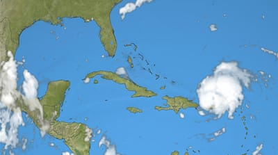 Hurricane Irene hits the Caribbean