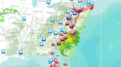 Map: Tracking Hurricane Irene