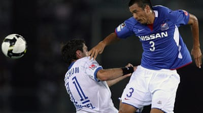 Japanese footballer battles for life