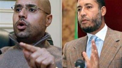 Gaddafi sons differ over Libya conflict