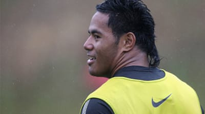 Manu Tuilagi lines up with England