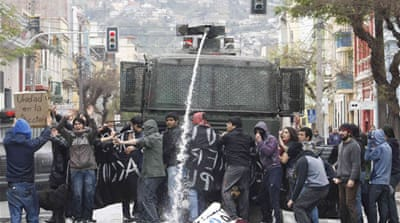 Student protests rock Chile's capital