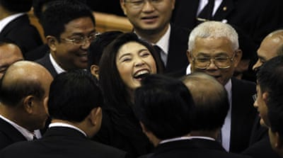 Yingluck confirmed as first female Thai PM