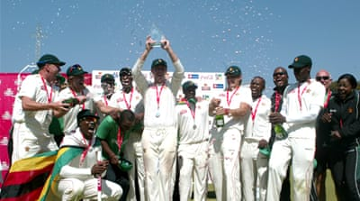 Zimbabwe back to cricket with triumph