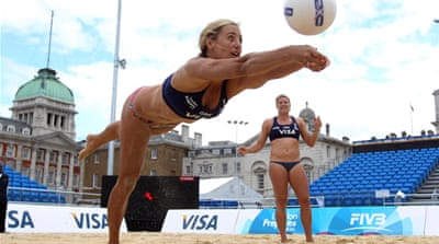 Volleyball arrives in central London