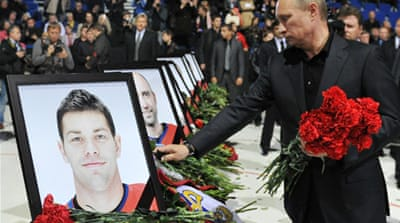 Russia mourns hockey team air crash victims
