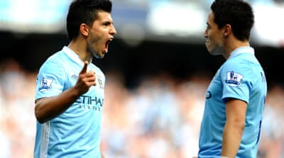 Aguero on hand with hat-trick for City