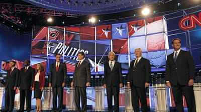 Republican hopefuls spar in TV debate