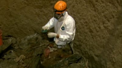 Guatemala scientists look for mass graves