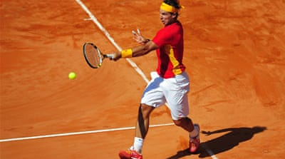 Nadal back to winning ways at Davis Cup
