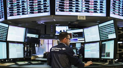 Markets suffer large quarterly falls