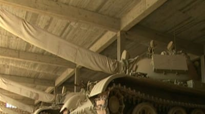 Gaddafi tanks in the hand of Libyan fighters